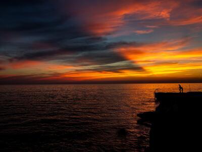 Chorvatsko - Lanterna západ slunce