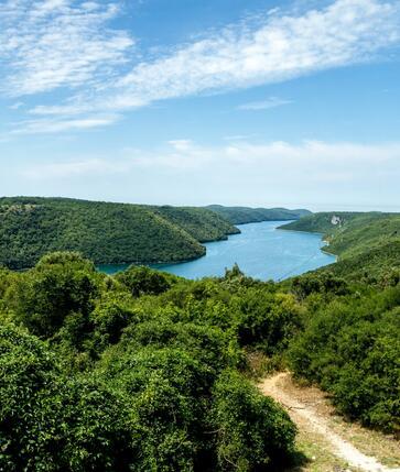Chorvatsko - Limský kanál - Lim fjord