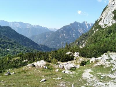 Pohled do údolí Vršiške ceste